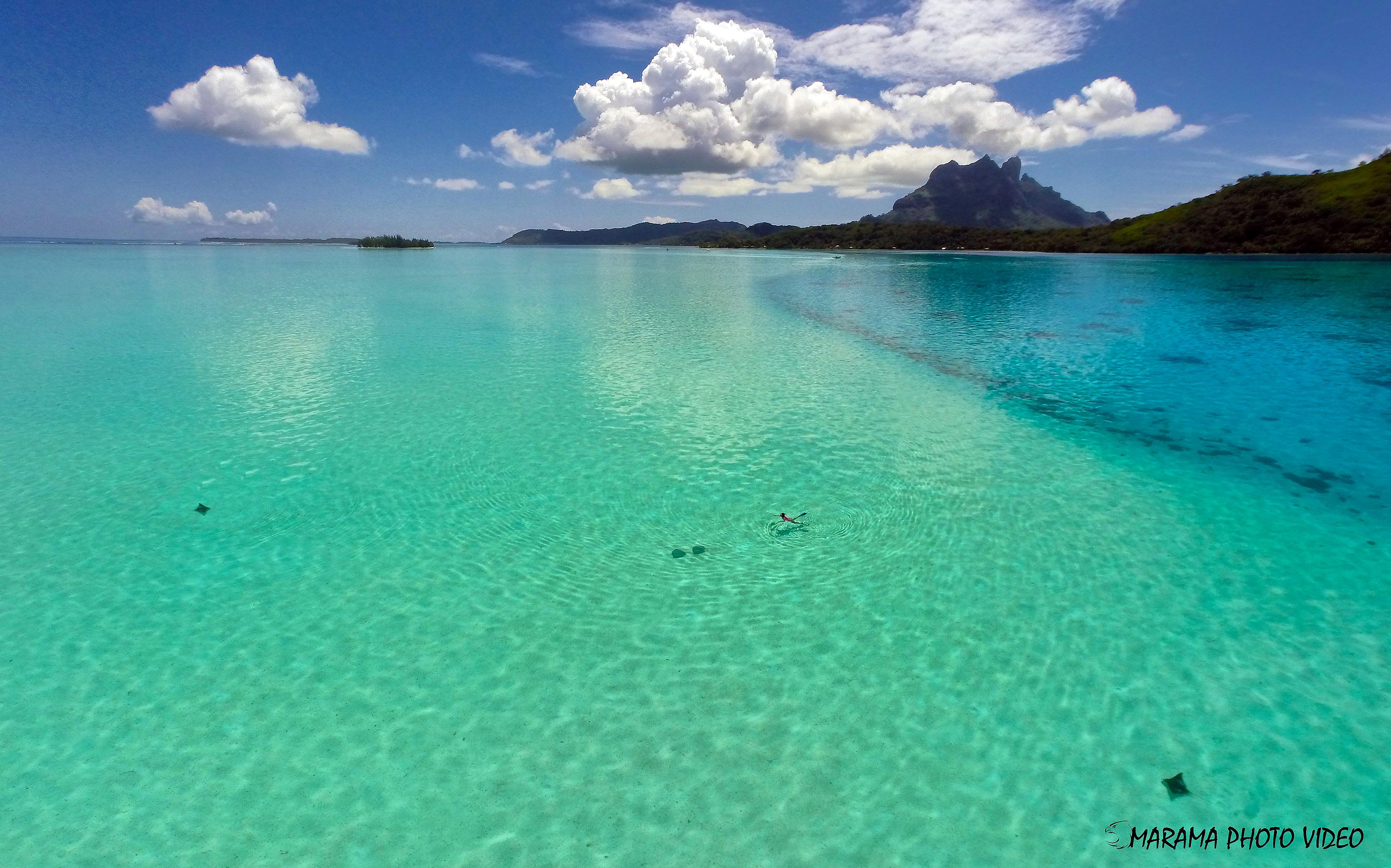 Bora Bora Lagoon French Polynesia Dronestagram